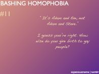 Bashing Homophobia 11