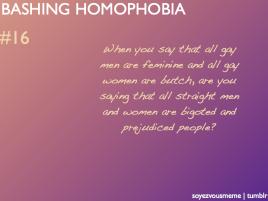 Bashing Homophobia #16