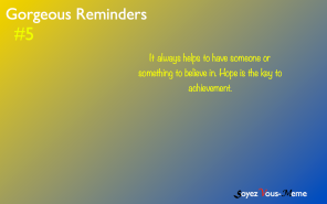 Gorgeous Reminders #5