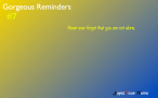Gorgeous Reminders #7